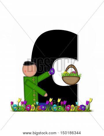 Alphabet Children Easter Egg Hunt C