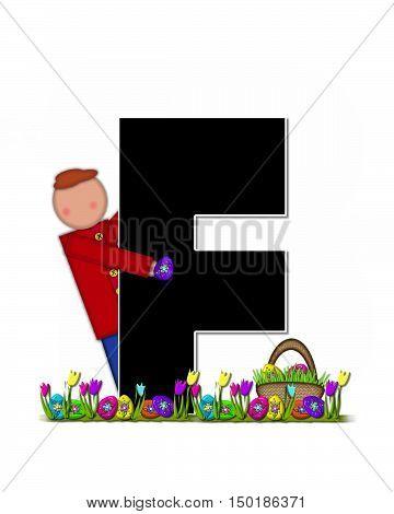 Alphabet Children Easter Egg Hunt F