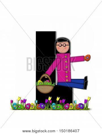 Alphabet Children Easter Egg Hunt L