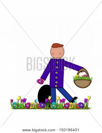 Alphabet Children Easter Egg Hunt Period