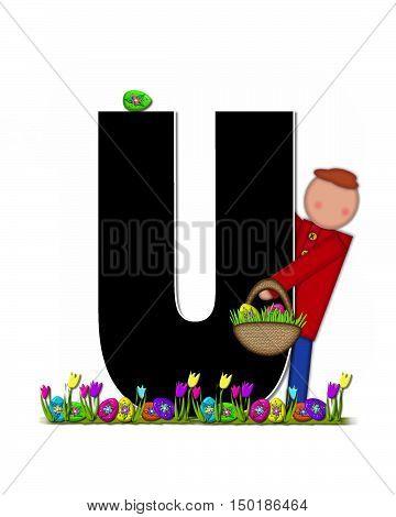Alphabet Children Easter Egg Hunt U