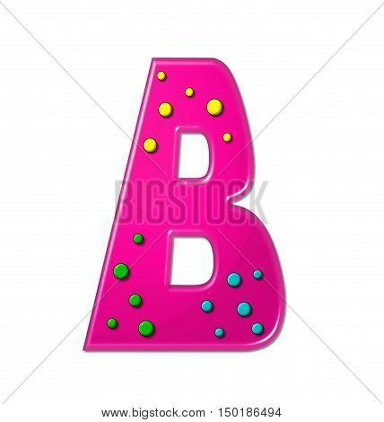 Alphabet Polka Dot Party B