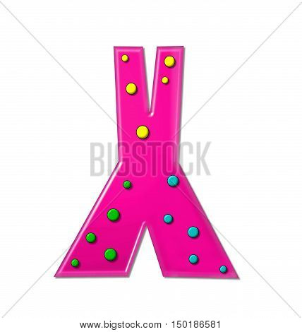 Alphabet Polka Dot Party X