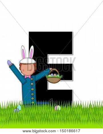Alphabet Children Easter Eggs E