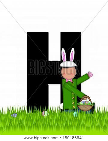 Alphabet Children Easter Eggs H