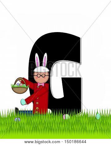 Alphabet Children Easter Eggs G