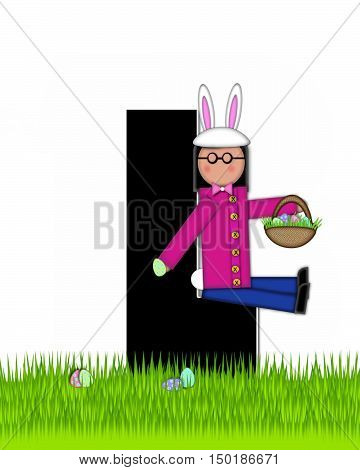 Alphabet Children Easter Eggs L
