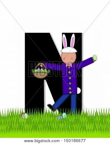Alphabet Children Easter Eggs N