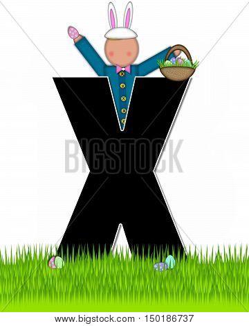 Alphabet Children Easter Eggs X