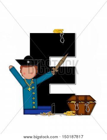 Alphabet Children Pirates E