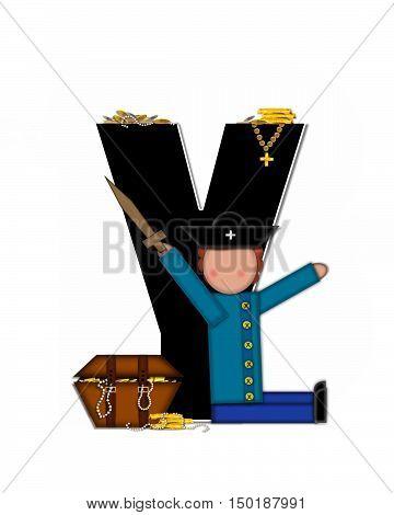 Alphabet Children Pirates Y