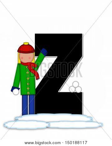Alphabet Children Snow Fight Z