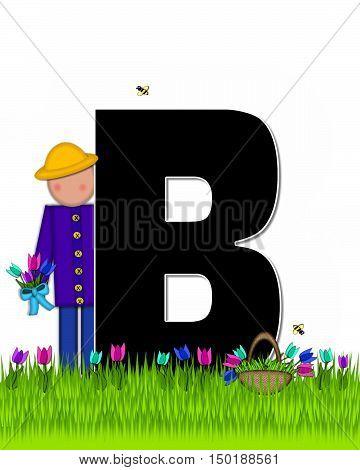 Alphabet Children Tulip Patch B