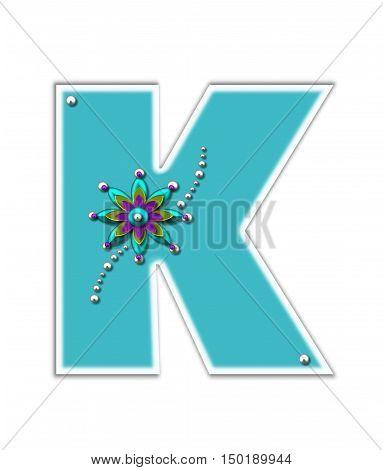 Alphabet Metallica Turquoise K