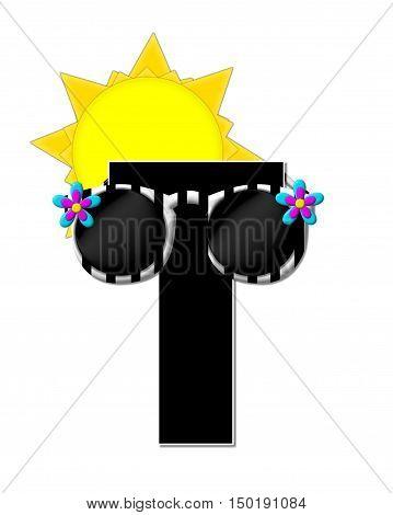 Alphabet Sun Shades T