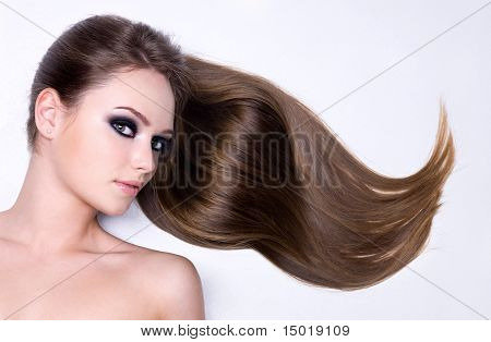 Portrait Of Woman With Beautiful Hair