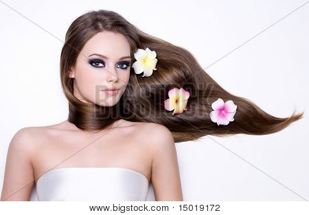 Girl With Beautiful Long Straight Gloss Hair