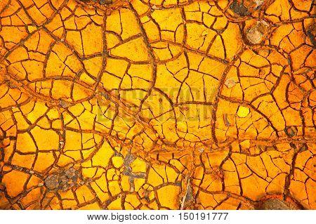 orange crack drought soil land texture background