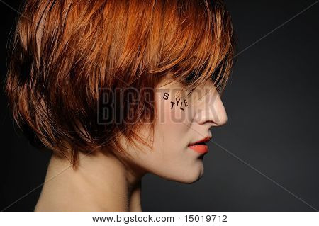 Style.beautiful Woman Portrait With Fashion Hairstyle And Creative Trendy Make-up