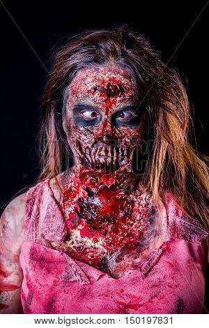 Cross-eyed Zombie Girl