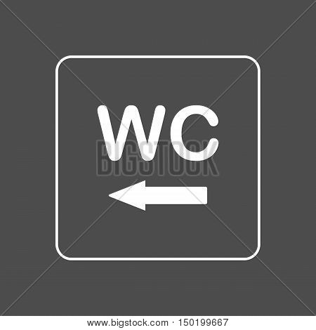 Toilet / WC icon door wall plate. Sign.