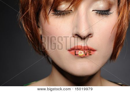Love.beautiful Woman Portrait
