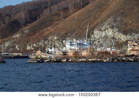 Port Baikal - terminal station on Circum-Baikal Railway. Russia