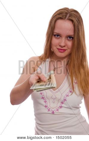 Women With Dollar Bank Notes