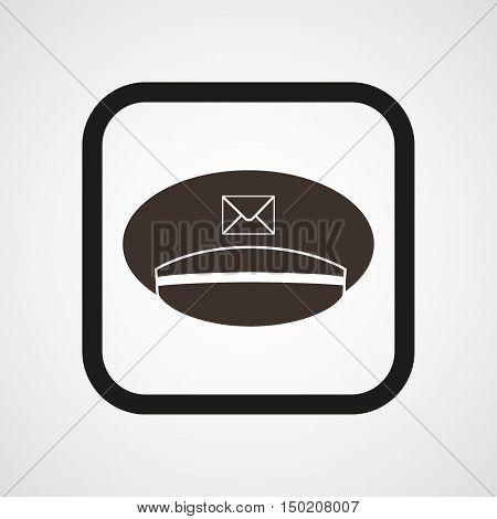 Postman cap Icon Flat Simple Vector illustration