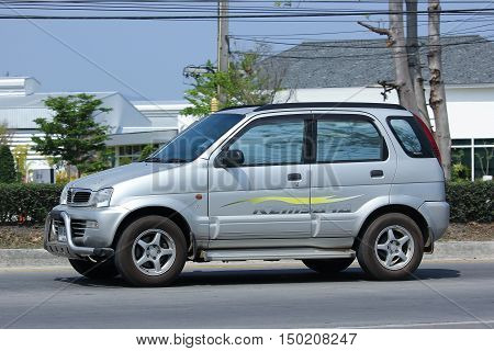 CHIANGMAI THAILAND -FEBRUARY 29 2016: Private Proton Perodua Kembara. Mini Suv Car for Urbun User. On road no.1001 8 km from Chiangmai city.