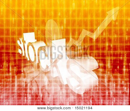 Stock market economy trend concept illustration background improving