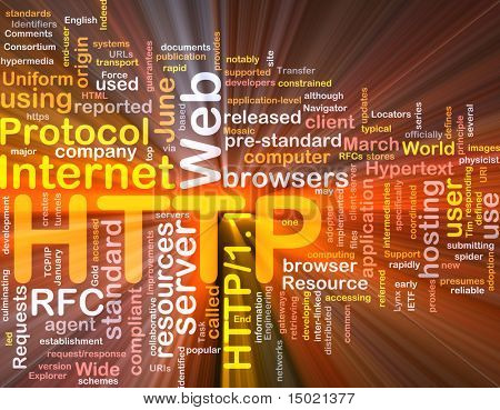 Software package box Word cloud concept illustration of web HTTP