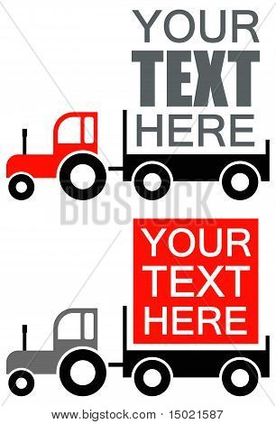Tractor - Vector Advertisement Background