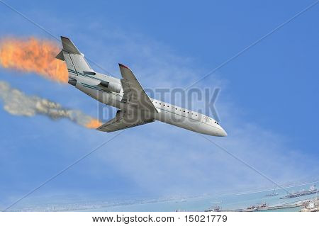 Burned Airplane
