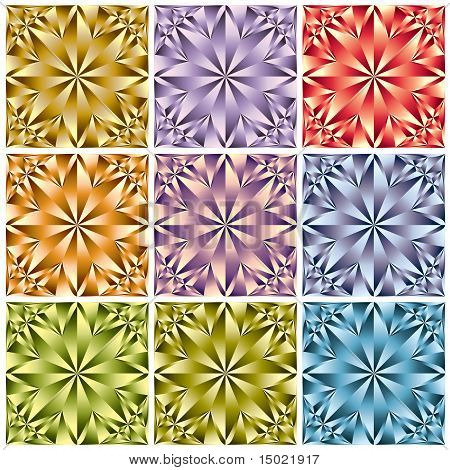 Flower crystal seamless pattern.