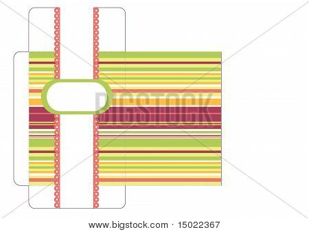 Striped envelope template