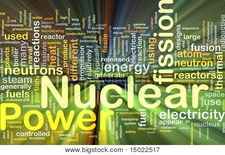 Background concept illustration of nuclear power energy glowing light