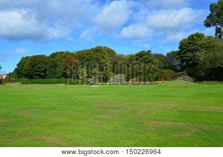 Landscaping surrounding Holyrood Park in Edinburgh Scotland.