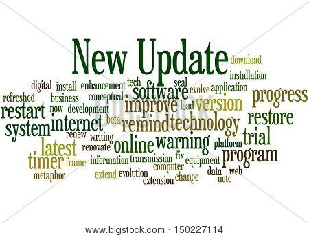 New Update, Word Cloud Concept 9