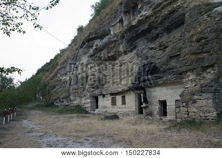 Ancient cave monastery Tipova Republic of Moldova