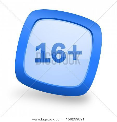 adults blue glossy web design icon