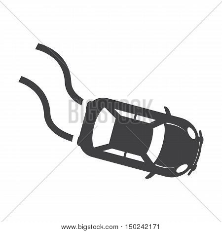 car skid black simple icon on white background for web design