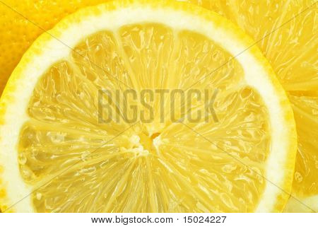 Lemon slice macro perfect for background