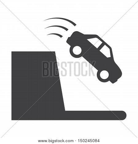 precipice black simple icon on white background for web design