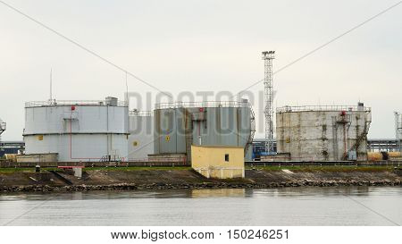 Tanks for oil storage have a large volume.