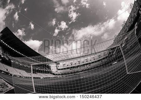 VALENCIA, SPAIN - OCTUBER 2nd: Spanish soccer league match between Valencia CF and Atletico de Madrid at Mestalla Stadium on Octuber 2, 2016 in Valencia, Spain