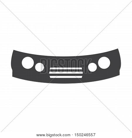 bumper black simple icon on white background for web design
