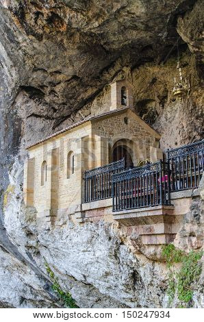 Chapel In Holy Cave Of Covadonga