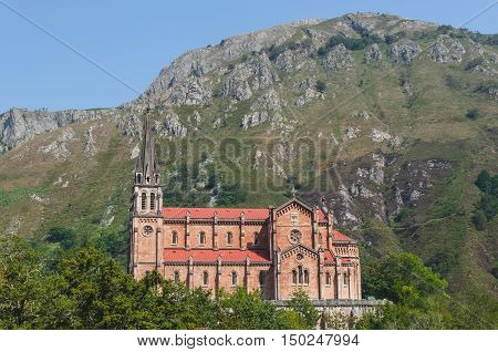 Sanctuary Of Covadonga In Asturias Spain