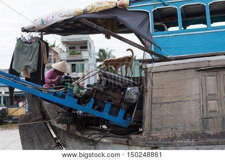 Cai Rang floating market Can Tho Vietnam